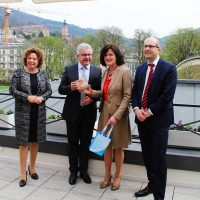Pressegespräch mit OB Mergen und Mnister Wolf