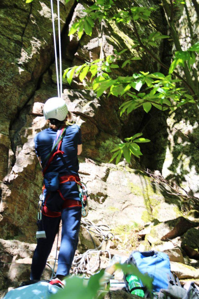 Alpinisten am Battert